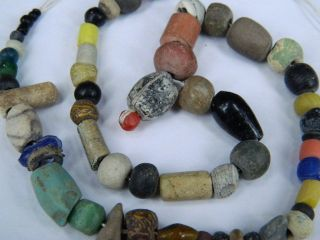 Ancient Islamic Stone/glass Beads Strand C.  1200 Ad Price  E5216 photo