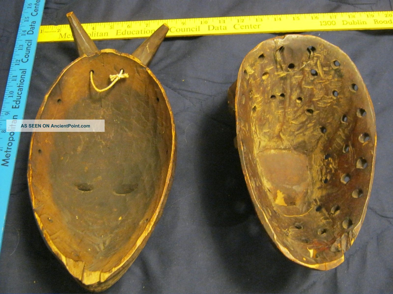 2 Very Old And Authentic African Masks Used? Late 19th/early 20th Century Worn Masks photo