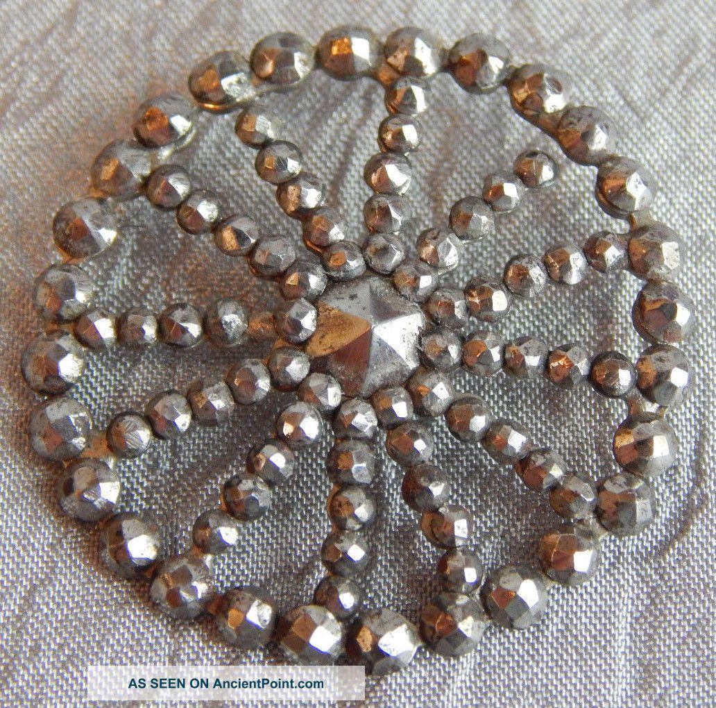 Antique Button Cut Steel Rivets Large 1 - 1/4