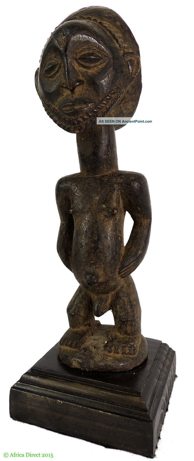 Hemba Standing Male On Stand Congo African Art Was $190.  00 Sculptures & Statues photo