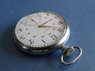Zenith Grand Prix Pocket Watch - Rare 24 Hour Dial Cal 18 - 28 - 3 - P photo