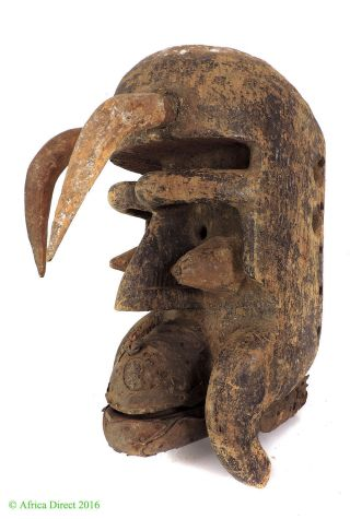 Dan Guere Horned Mask Liberia African Art Was $490 photo