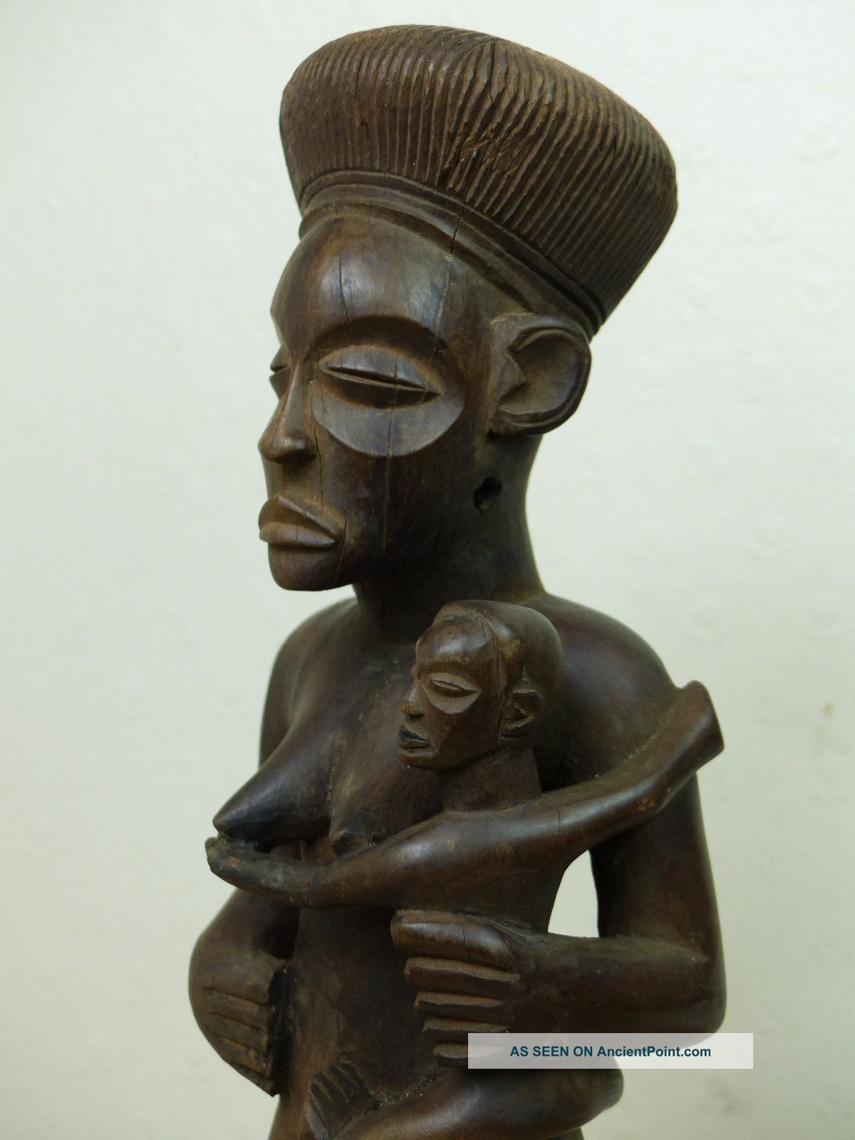 Beauty Chokwe Lwena Maternity Figure Other African Antiques photo