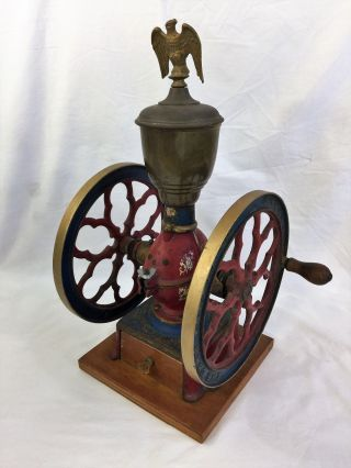 Antique 1890s Charles Cha ' S Parker Coffee Grinder 4000 11