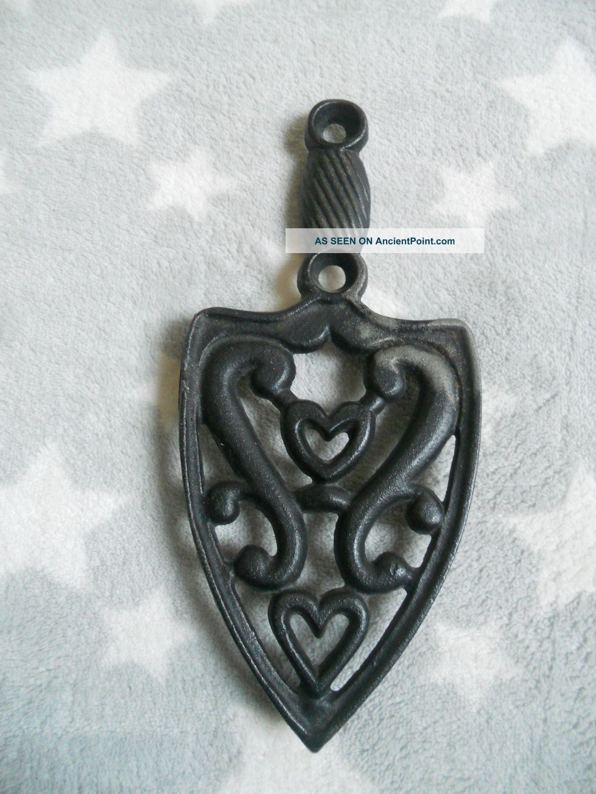 Vintage  Wilton  Cast Iron Trivet,  Hearts Trivets photo