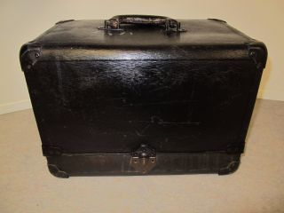 Vintage Artists Tool Case W/ Accordion Compartments Fibre Products Mfg.  Co.  Ny photo
