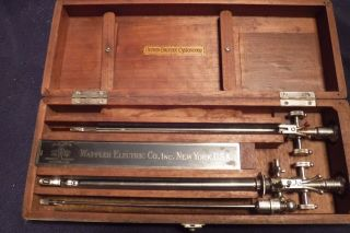Vintage 1930s - Brown - Buerger - Cystoscope - Medical - Instrument photo