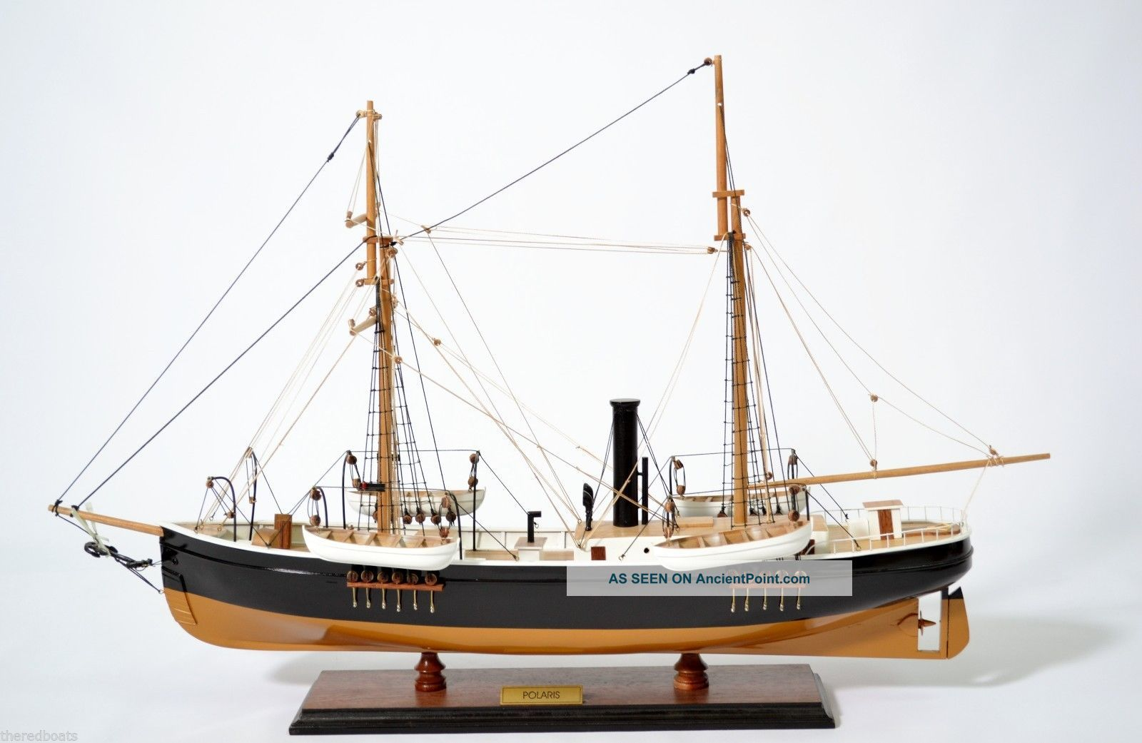 Polaris Expedition To The North Pole Tall Ship - Handmade Wooden Tall Ship Model See more American Polaris Tall Ship North Pole Assemble... photo