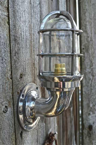 Nautical Light Marine Ship Aluminium Passage Bulkhead Outdoor Light 1 Piece photo