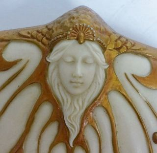 Art Nouveau Style Vintage Resin Trinket Box photo