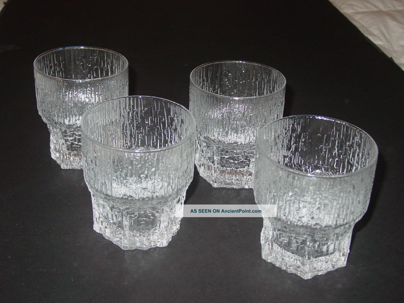 Aslak Tapio Wirkkala Iittala Old Fashioned 4 Glasses Modern Mid Century Danish Mid-Century Modernism photo