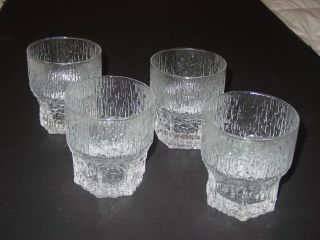 Aslak Tapio Wirkkala Iittala Old Fashioned 4 Glasses Modern Mid Century Danish photo