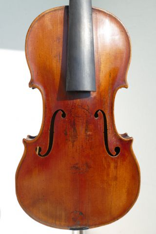Old Bohemian Violin With Inscription