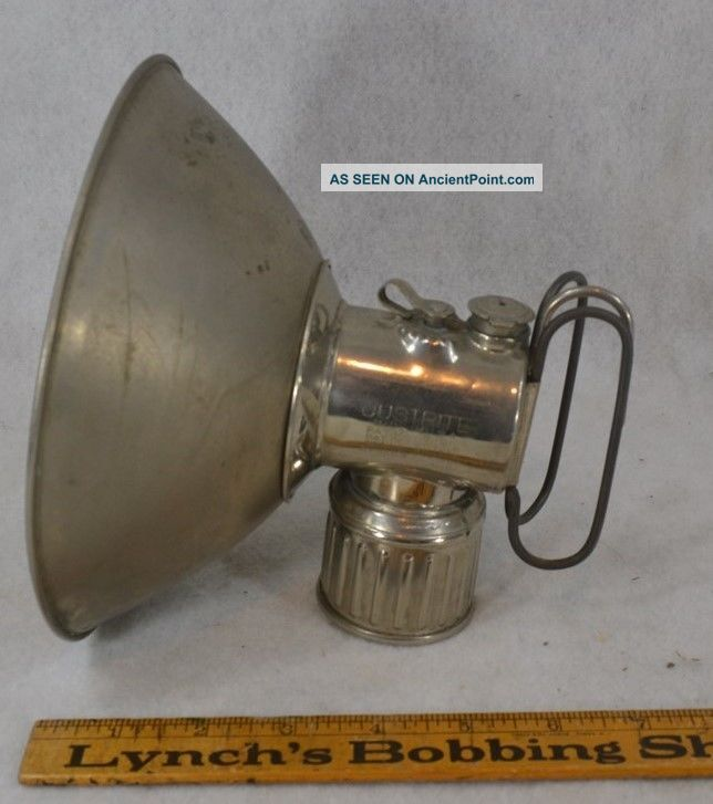 Lamp Lantern Miner Justrite 1915 Old Large Reflector Antique Mining photo
