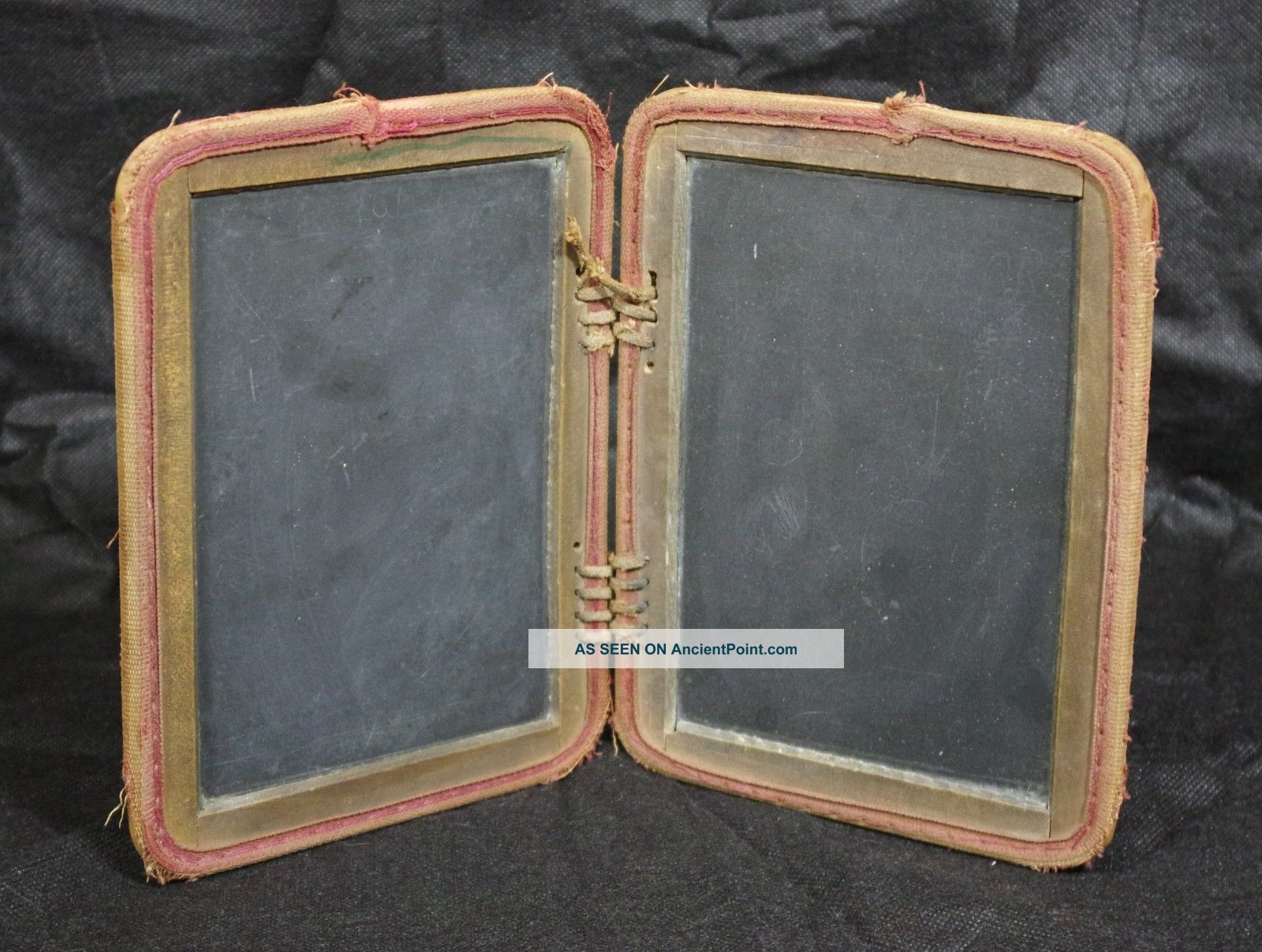 Antique Primitive Folding Four Sided Student ' S Schoolhouse Slate Chalkboard Primitives photo