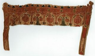 Gorgeous Coptic Textile Fragment,  Poss Child's Tunic,  Circa 6th Century photo