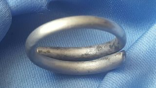 Very Rare Viking Silver Torc Ring photo