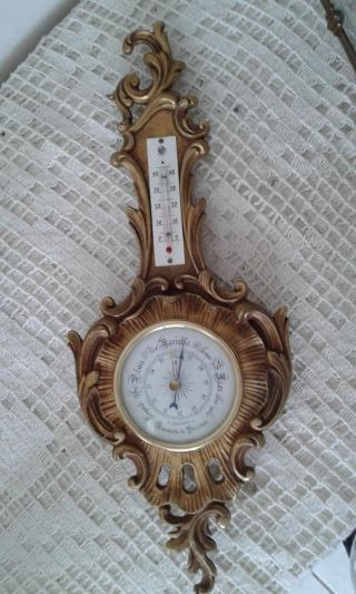 Authentic French Antique Barometer And Thermometer Louis Xv photo