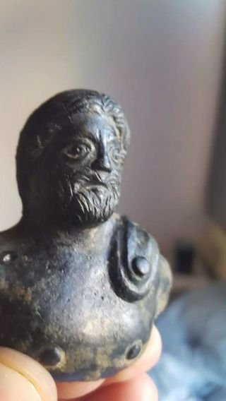 Ancient Bronze Roman Statue photo
