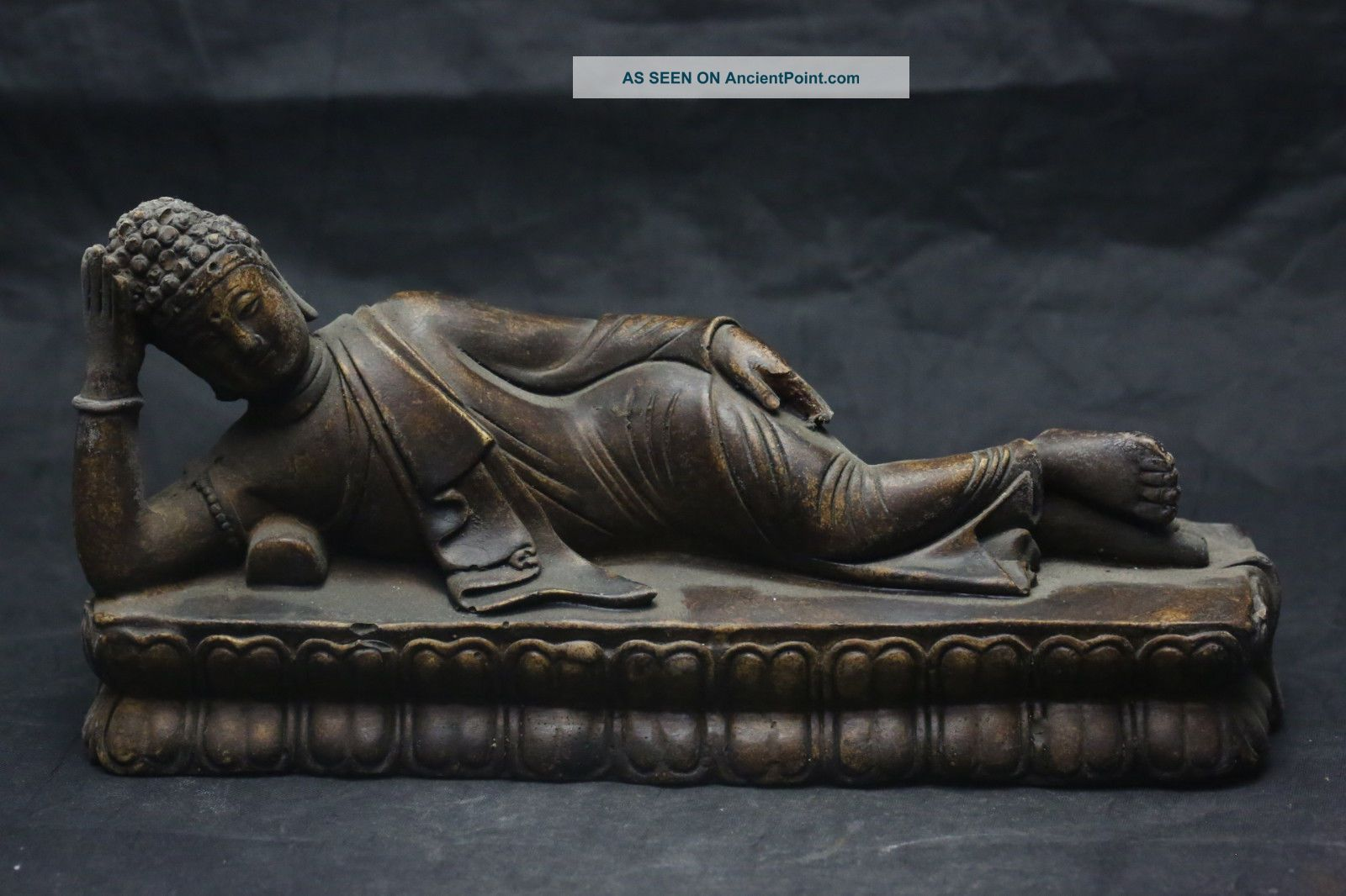Old Chinese Exquisite Child Old Stone Statue A Figurines & Statues photo