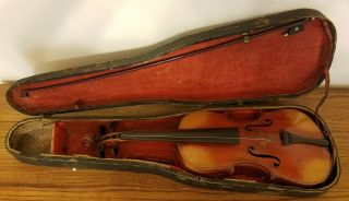 Antique 1900 ' S Germany Antonius Stradivarius Cremonensis Conservatory Violin 4/4 photo