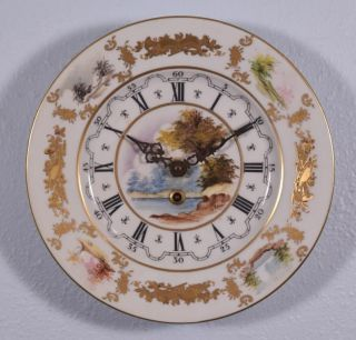 Vintage Hand Painted Sevres Porcelain Clock With German Clockworks photo