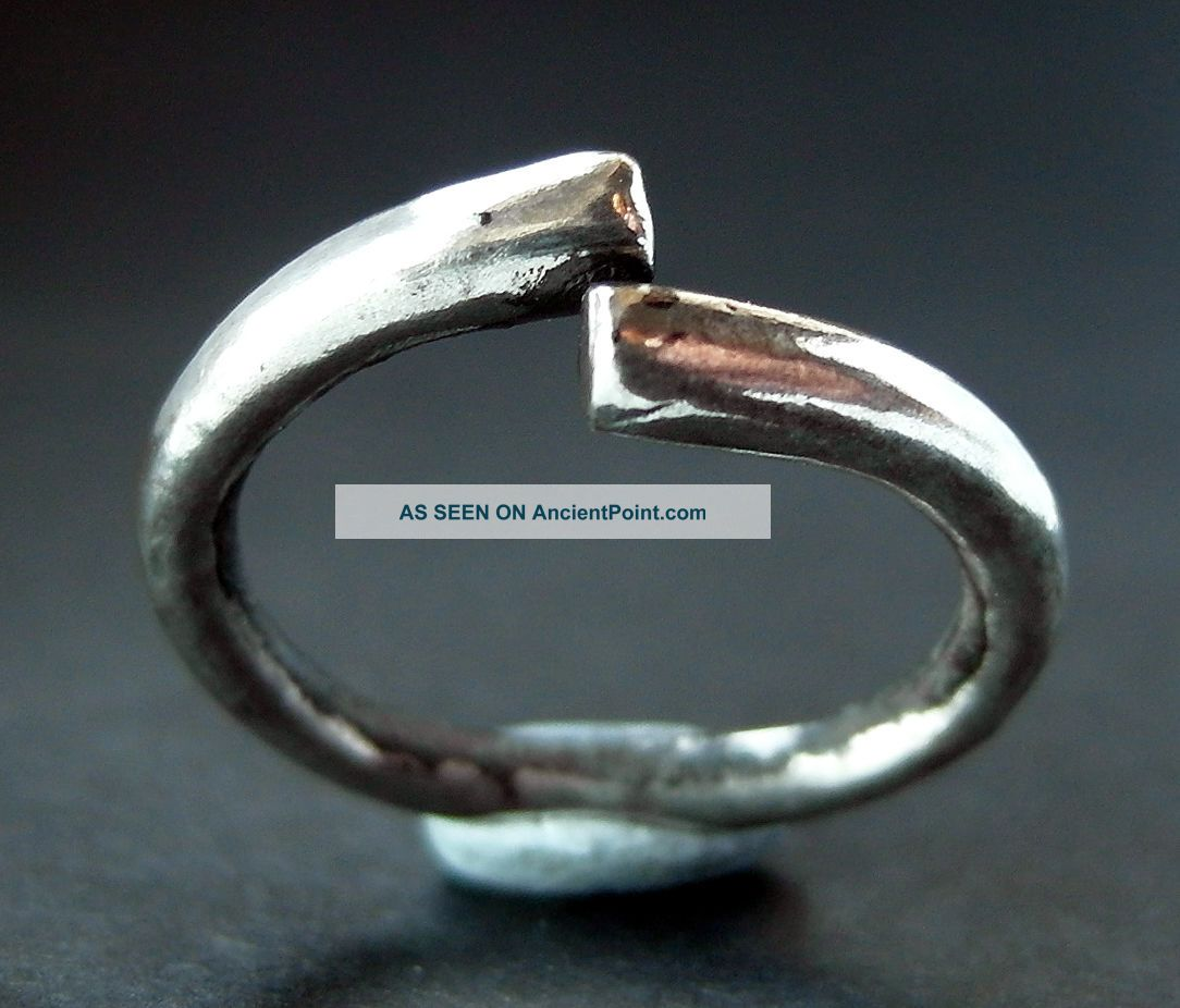 Rare Viking Silver Torc Ring Scandinavian photo