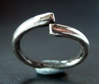 Rare Viking Silver Torc Ring photo