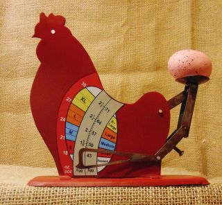 Egg Scale Poultry Antique Style Hen Chicken Sizer Primitive Reproduction 531 photo