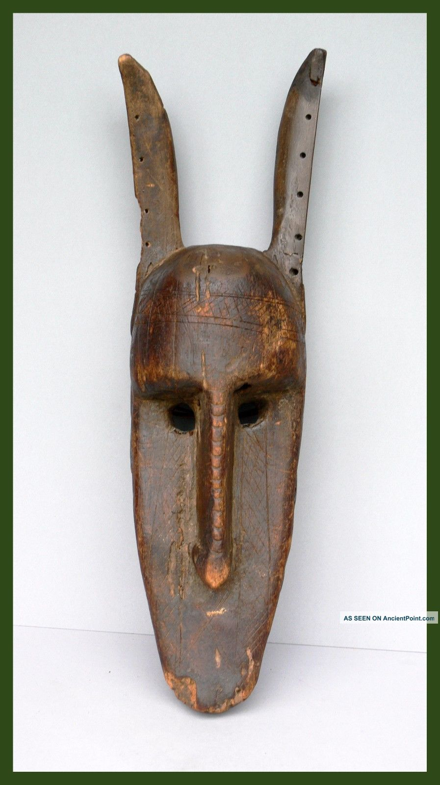 Time - Worn Zoomorphic Hyena Mask,  Mali ' S Bambara Tribe,  1900 - 1940,  Ex Uk Collect Other African Antiques photo