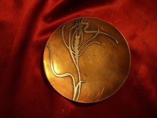 Antique Heintz Wheat Sterling On Bronze 4