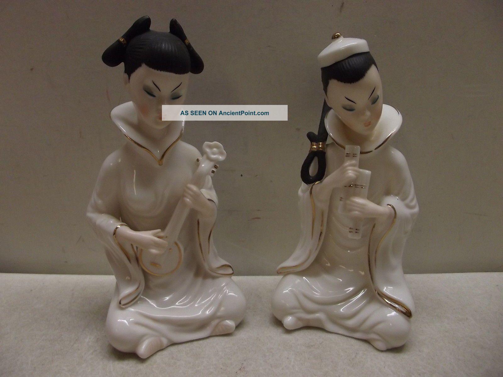 Vintage Lenwile Ardalt Porcelain Japanese Woman Figures Figurines Figurines photo