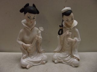 Vintage Lenwile Ardalt Porcelain Japanese Woman Figures Figurines photo