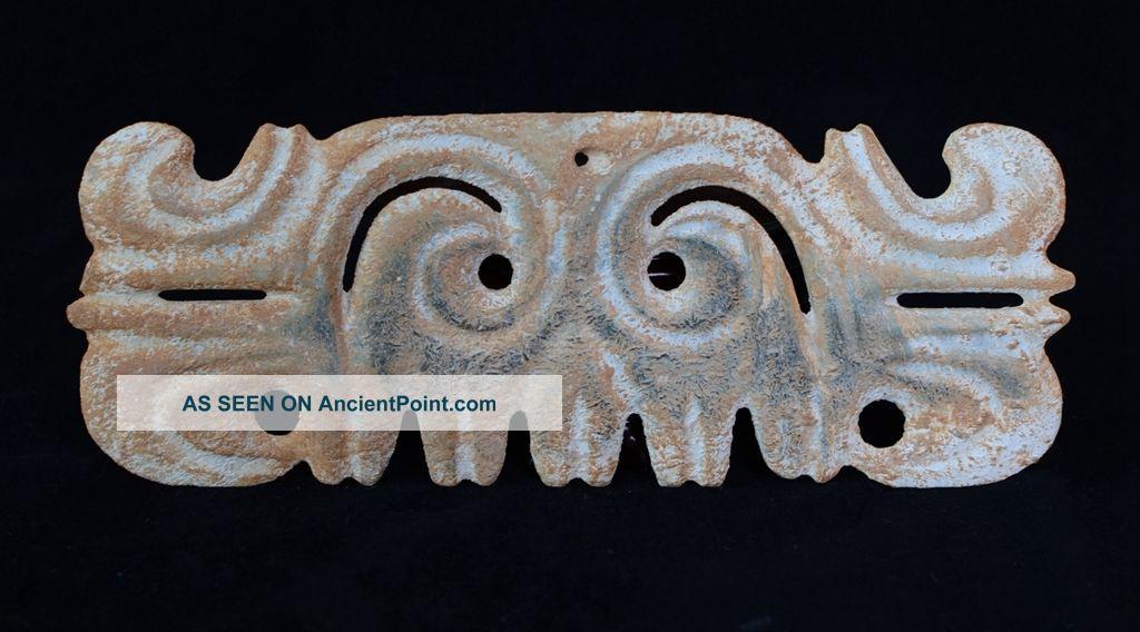Large Chinese Hongshan Style Totem Worship Sacrificial Jade Gouyun Pei - Jr12537 Neolithic & Paleolithic photo