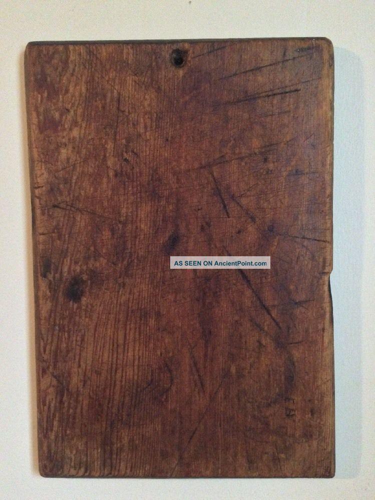 Primitive Antique Pa Wooden Treen Bread Dough Cutting Board Pine Aafa Signed E.  B Primitives photo
