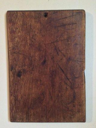 Primitive Antique Pa Wooden Treen Bread Dough Cutting Board Pine Aafa Signed E.  B photo