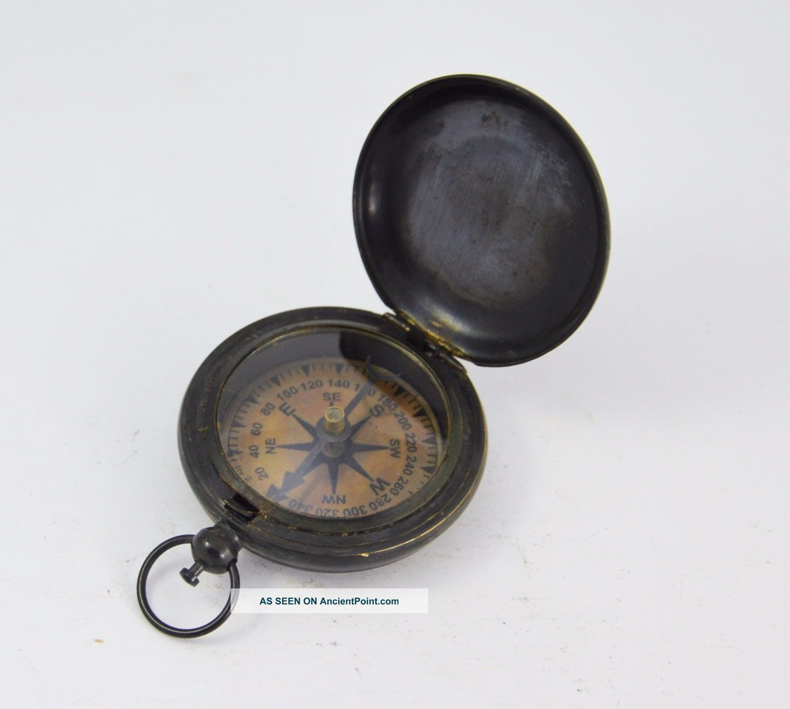 650045242653 Antique Ross London Nautical Pocket Compass Compasses photo
