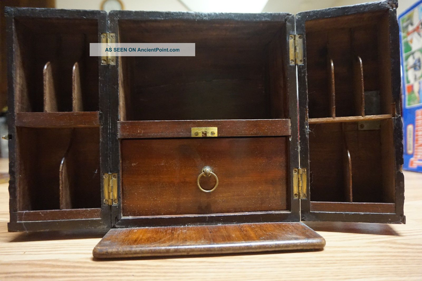 Apothecary Doctors Medicine Chest Box Mahogony Springweiler London Rare English Other Antique Apothecary photo