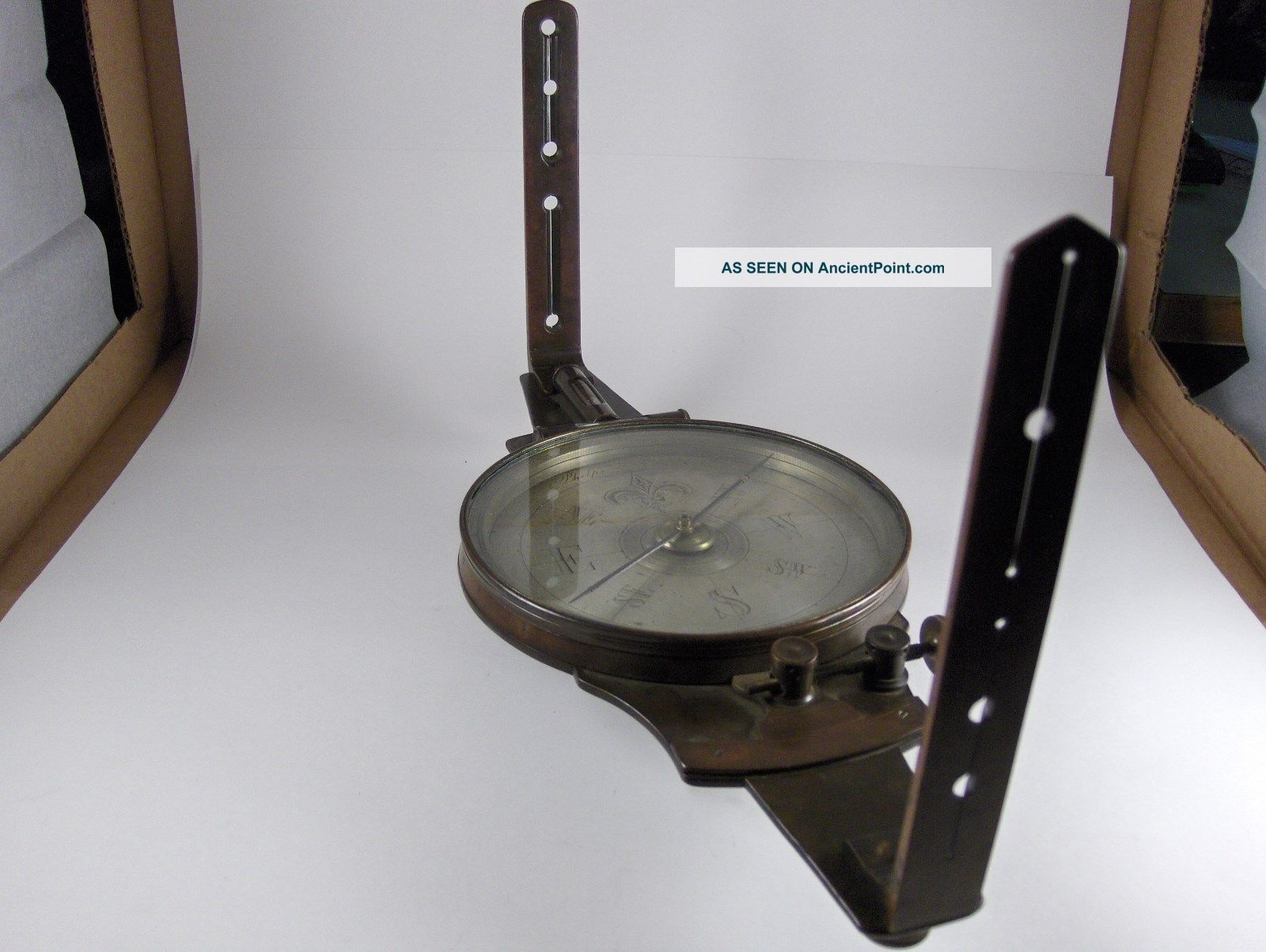 Antique Phelps & L.  E.  Gurley Surveyor ' S Verier Compass And Confederate Archive Engineering photo