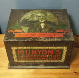 Rare Antique Munyon ' S Homeopathic Home Remedies General Store Counter Display photo
