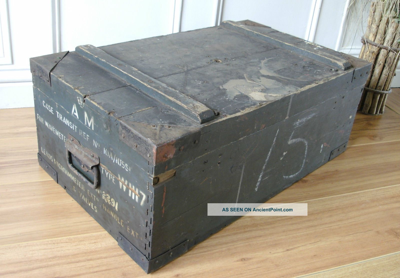 Vintage Pine Box Wavemeter Box 1900-1950 photo