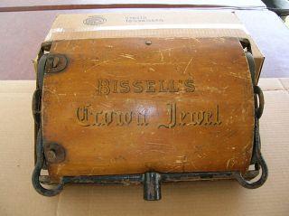 Bissell ' S Crown Jewel Victorian Era Floor Sweeper Early Vacuum Cleaner 1800 ' S photo