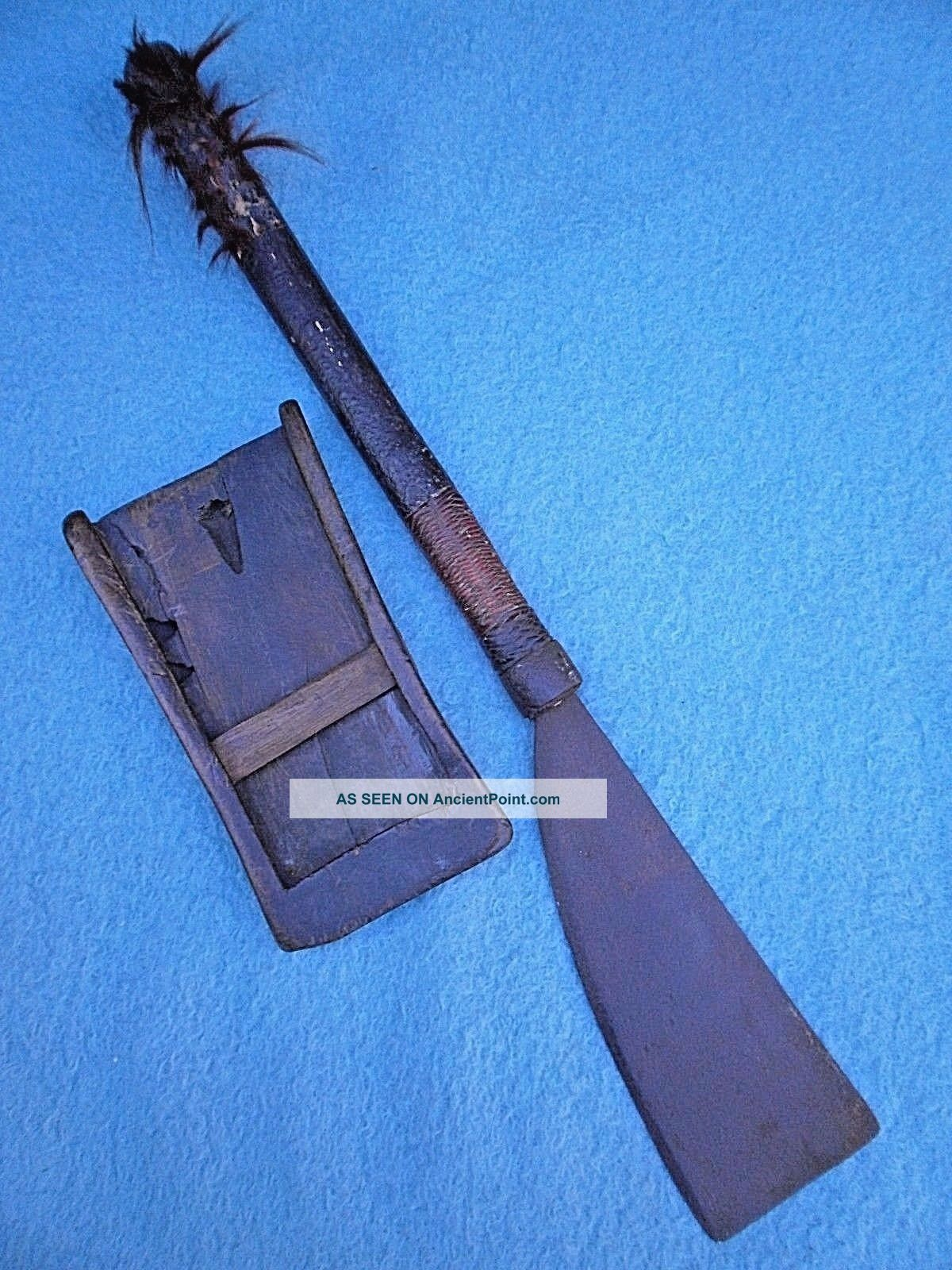 Antique 19thc Naga Dao Sword Axe Headhunter Assam Burmese Dha Knife Asian Dagger Other Southeast Asian Antiques photo