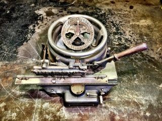 Ideal No.  2 Stencil Machine/belleville Ill.  /usa/antique Machinery/cast Iron/3/4
