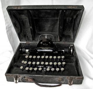 Antique Remington Rem - Blick Steel Typewriter W Case Blickensderfer Art Deco Usa photo