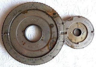 Antique 1889 Mechanical Calculator Webb The Adder ' C ' Adding Slide Rule Metal photo