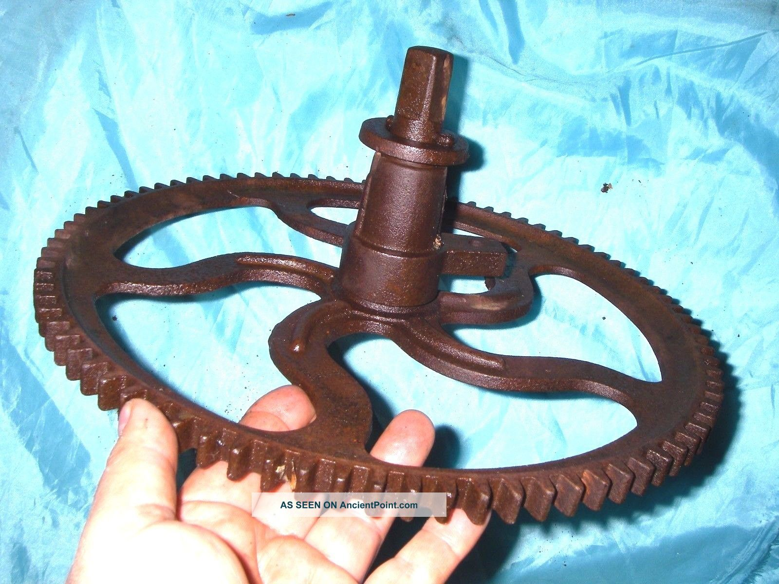13  Grain Mill Wheel Primitive Cast Iron Gear Vintage Barn Industrial Punk Primitives photo