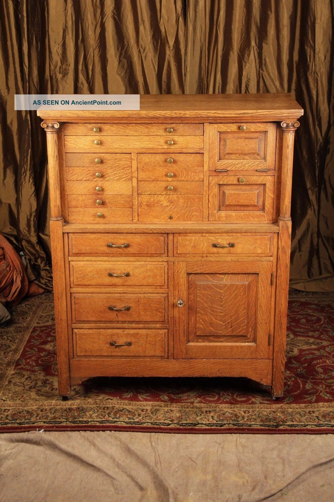 Antique Dental Cabinet Early 1900 ' S.  Will Deliver 1900-1950 photo