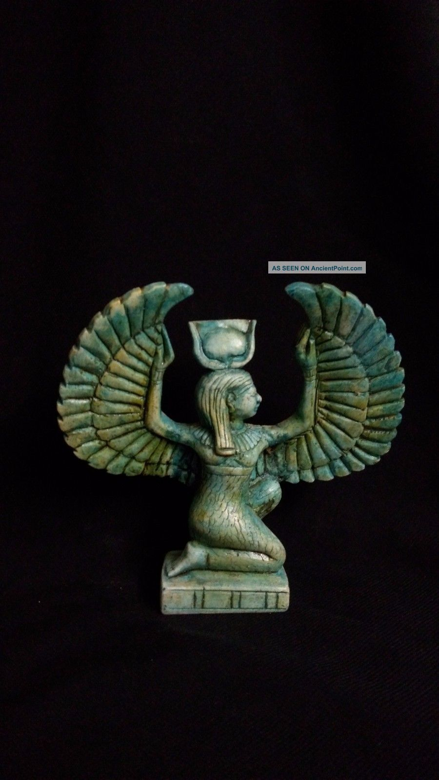 Rare Ancient Egyptian Statue Of Winged Isis (380–362 Bc) Egyptian photo