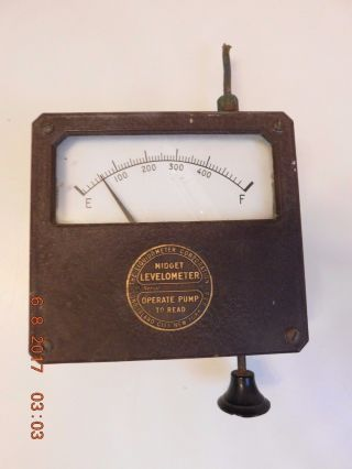 Vintage Antique Industrial Midget Levelometer Gauge Steampunk Industrial photo